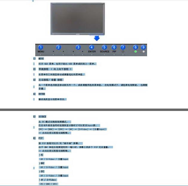 三星400PXn液晶显示器使用说明书