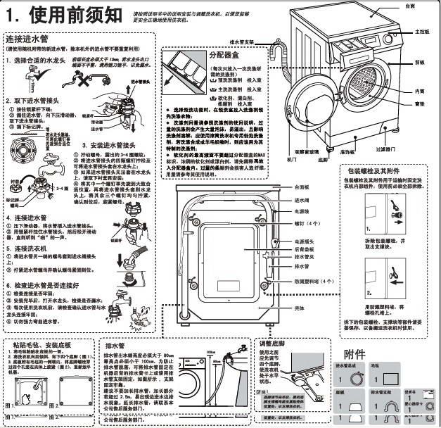 海尔xqg70-bs1286am洗衣机使用说明书