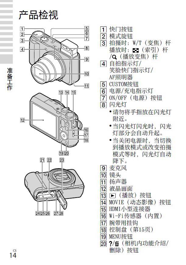 SONY索尼DSC-HX30数码相机说明书