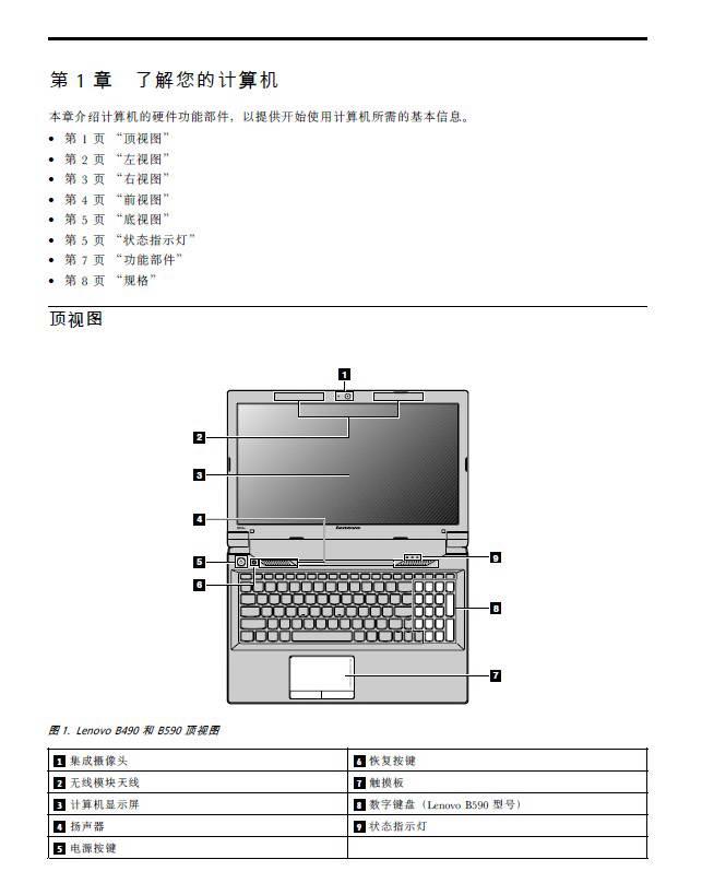 联想B590笔记本电脑使用说明书