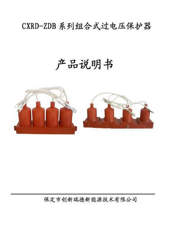创新瑞德CXRD-ZDB1-B/3组合式过电压保护器说明书