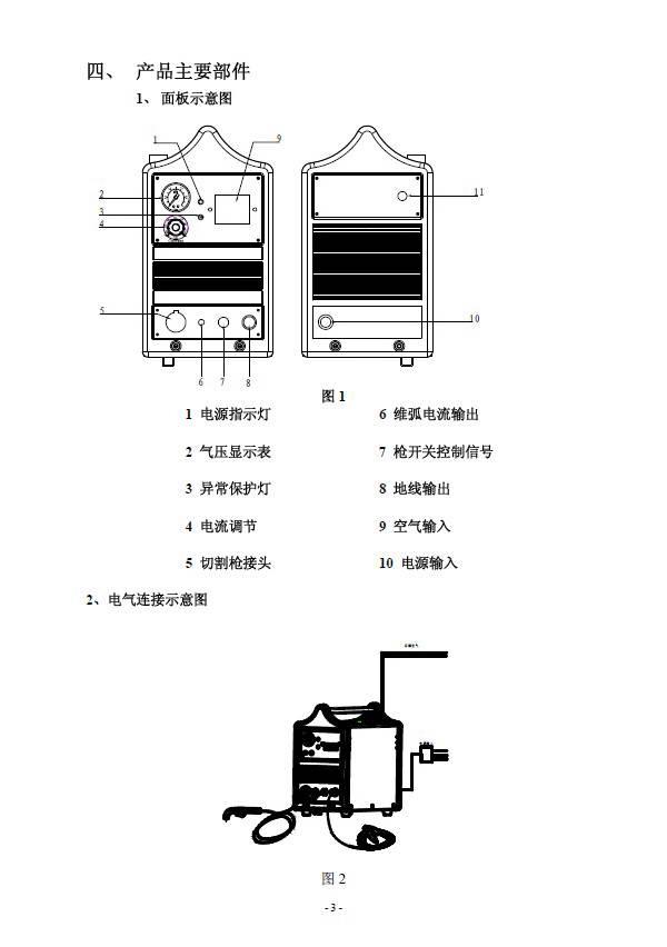 焊王cut-60空气等离子切割机使用说明书