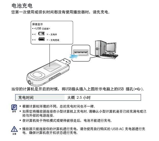 三星YP-U5QB MP3播放器使用说明书