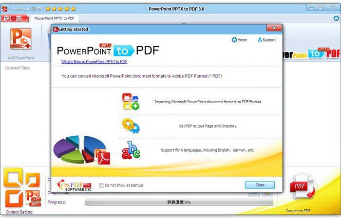 PowerPoint PPTX to PDF