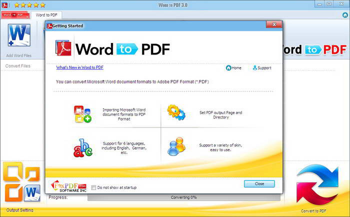Word 2010 to PDF