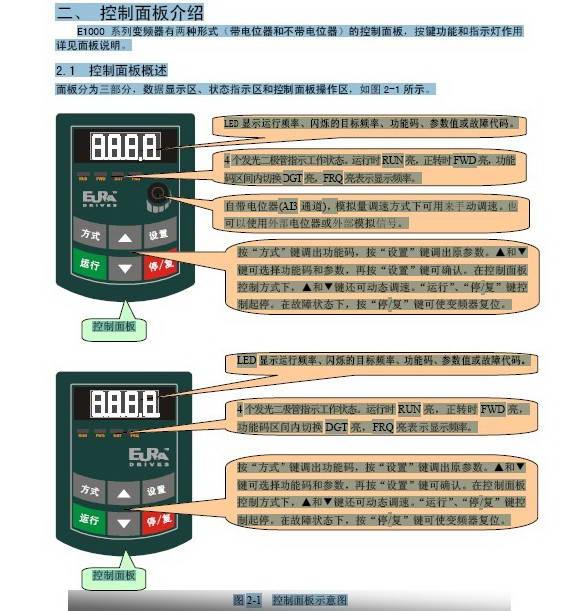 欧瑞传动e1000-4500t3变频器说明书