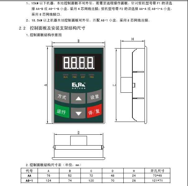 欧瑞传动e1000-5600t3变频器说明书