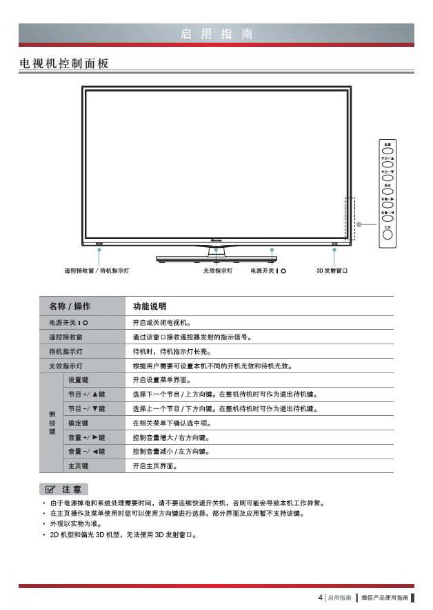 海信led42k360x3d液晶彩电使用说明书