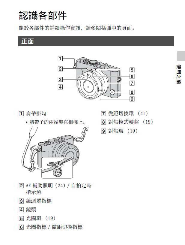 索尼DSC-RX1数码相机说明书