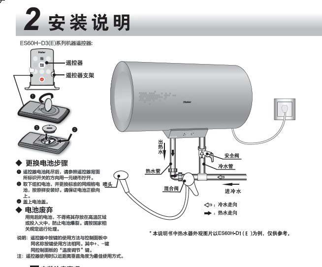 海尔es40h-d3(e)家用电热水器使用说明书