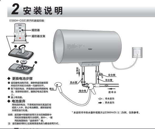 海尔es50h-d2(ze)家用电热水器使用说明书