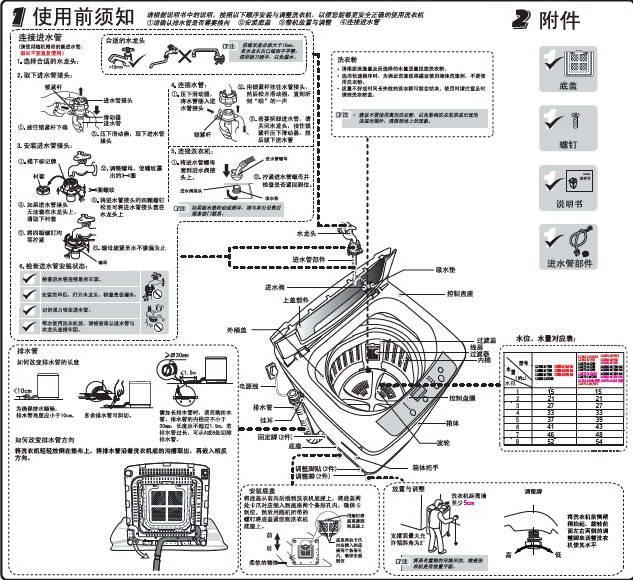 海尔xqb65-m1269洗衣机说明书