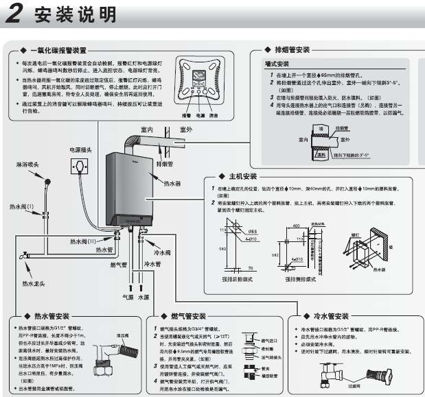 海尔jsq24-q2(12t) 燃气热水器使用说明书图片