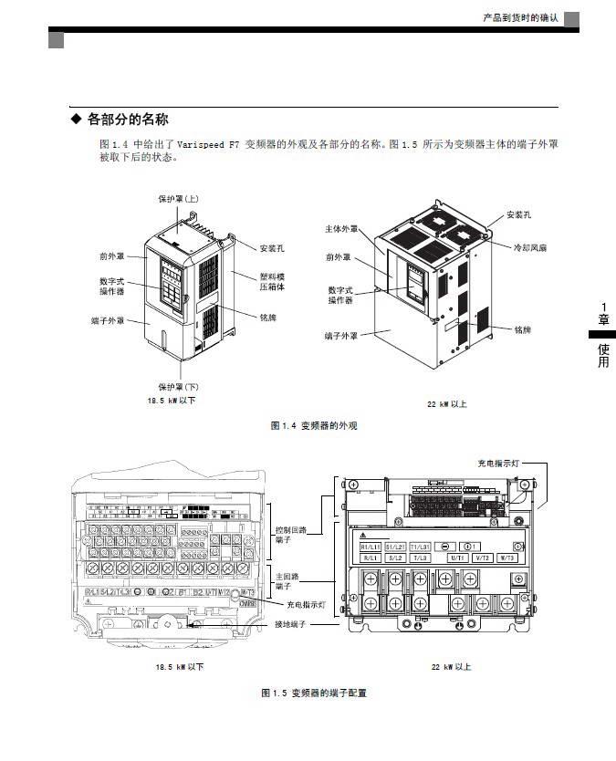 安川CIMR-F7B42P2变频器使用说明书