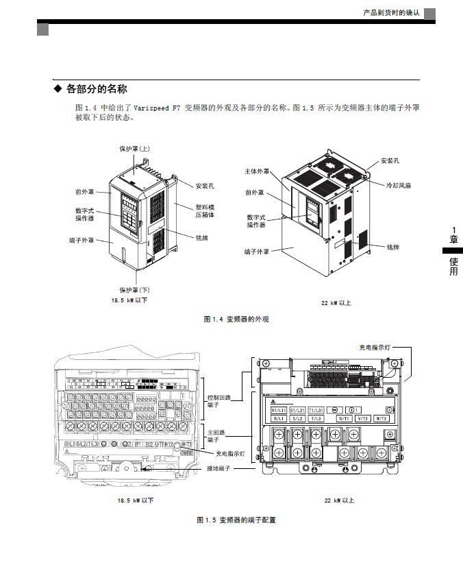 安川CIMR-F7B41P5变频器使用说明书