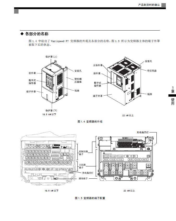 安川CIMR-F7B40P4变频器使用说明书