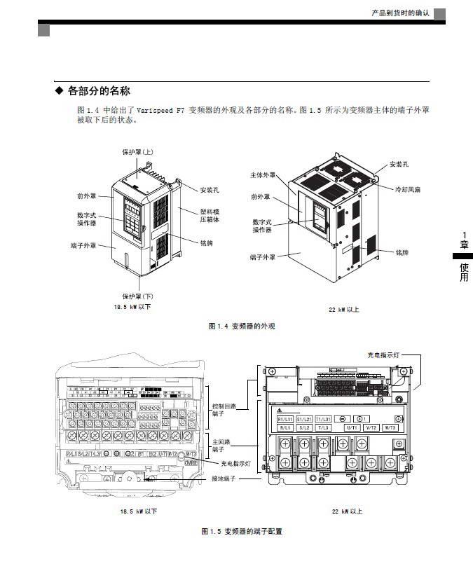 安川CIMR-F7B2110变频器使用说明书