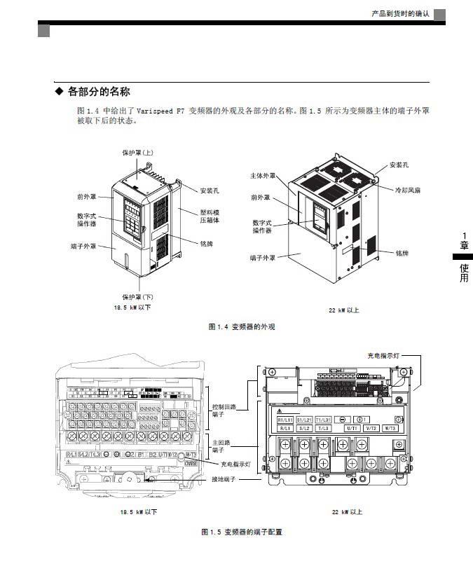 安川CIMR-F7B2045变频器使用说明书