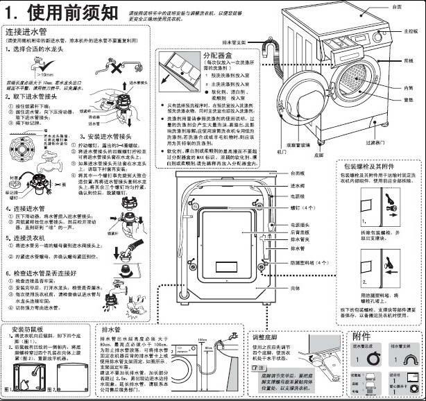 海尔xqg60-812洗衣机说明书