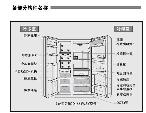 海尔bcd-539wbsn家用电冰箱使用说明书
