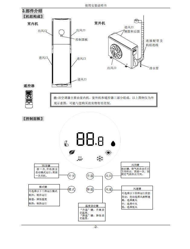 长虹kfr-72lw/dha(w1-h)+1分体落地式空调器说明书