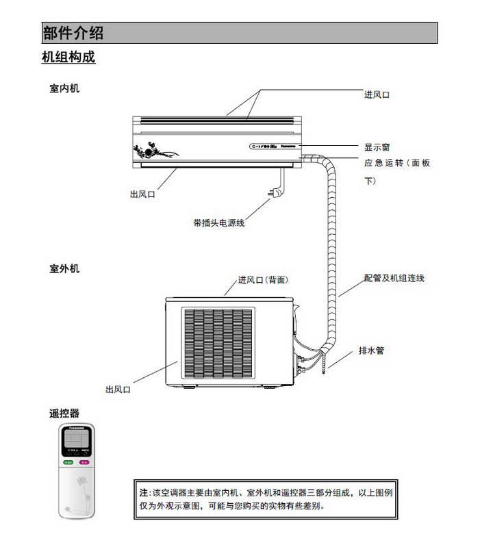 长虹kfr-35gw/zhr(w1-h)+3分体挂壁式空调器说明书