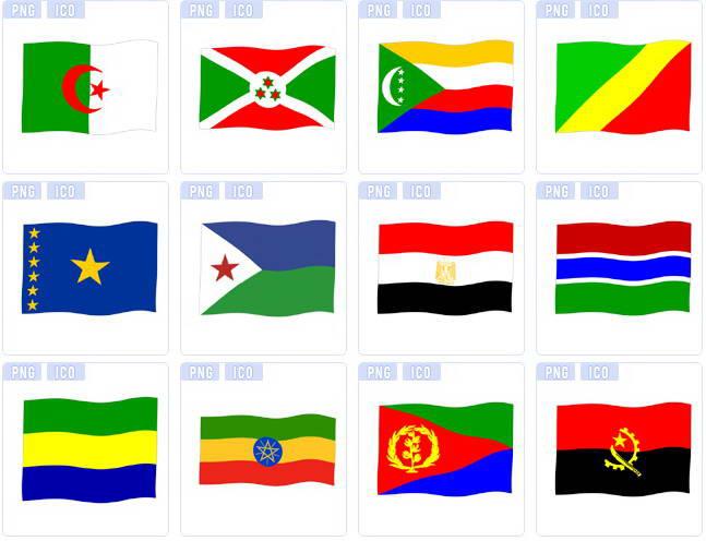 世界各国国旗图标