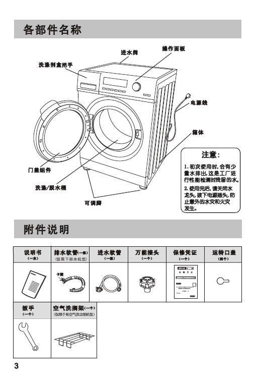 帝度DG-F60266BG滚筒洗衣机使用说明书
