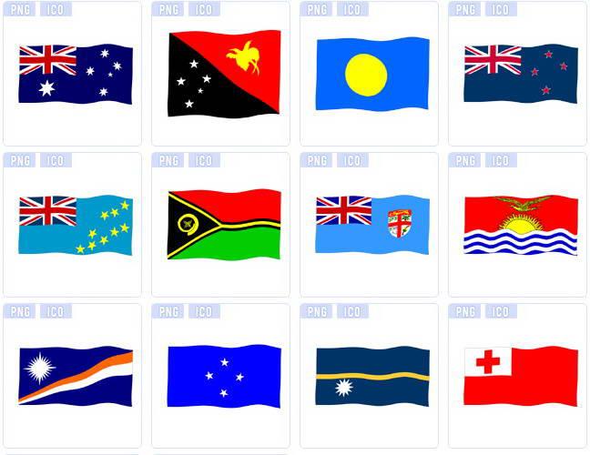 各样美国国旗图标