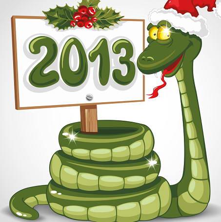 2013卡通蛇形象矢量素材