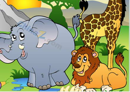 可爱卡通动物园矢量素材
