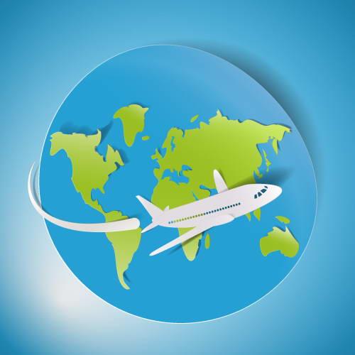 旅游交通工具矢量图_旅游交通工具矢量图模板