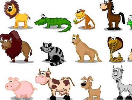 卡通动物形象矢量图官方下载 卡通动物形象矢量图