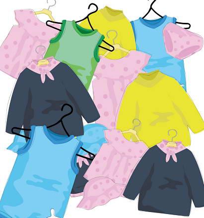 卡通儿童衣服矢量图_卡通儿童衣服矢量图模板