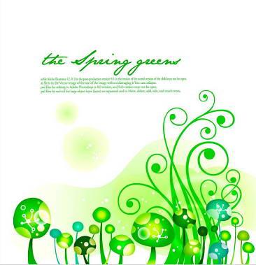 卡通植物背景矢量图