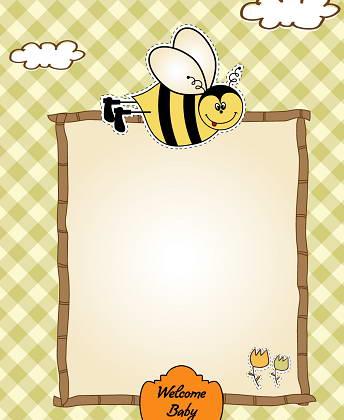 卡通动物装饰框矢量图