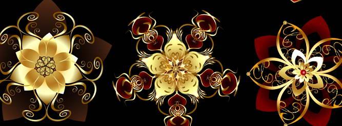金色高贵花纹矢量素材