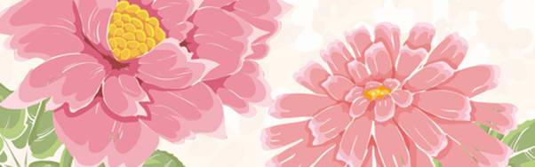 手绘水彩花卉矢量素材