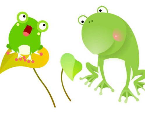 可爱卡通青蛙矢量图