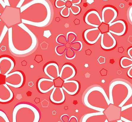 可爱鲜花花纹背景矢量素材官方下载|可爱鲜花花纹