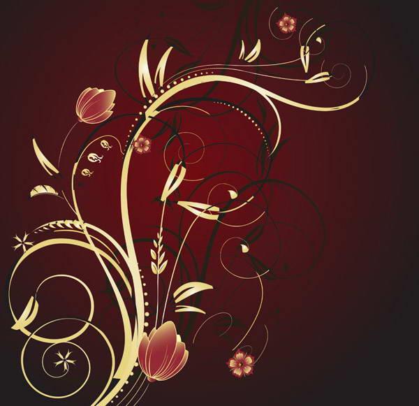 矢量欧式金色花纹素材官方下载|矢量欧式金色花纹