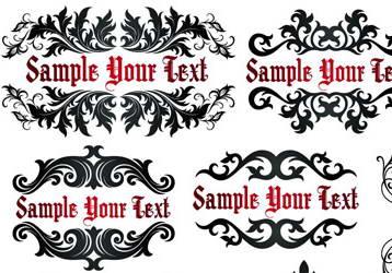 欧式花纹装饰矢量图_欧式花纹装饰矢量图模板