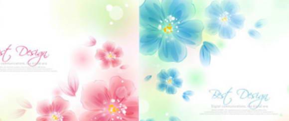朦胧鲜花背景矢量图_朦胧鲜花背景矢量图模板