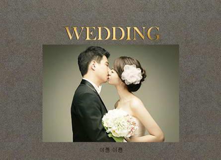 结婚相册ppt模板