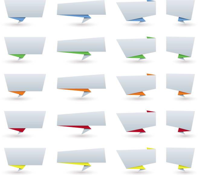 空白折纸对话框矢量创意