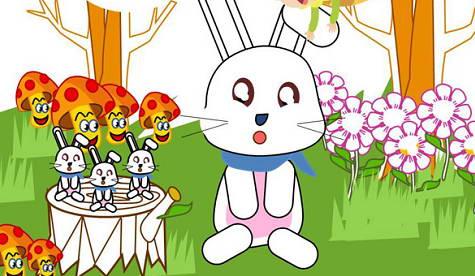 可爱兔子ppt背景模板_可爱兔子ppt背景模板下载