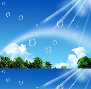 蓝天风景ppt模板