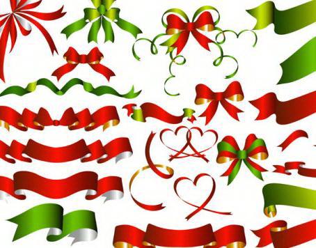 精美圣诞蝴蝶结丝带元素大全矢量素材官方下载 精美