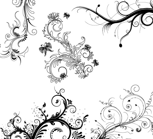 灰色时尚花纹矢量图官方下载|灰色时尚花纹矢量图