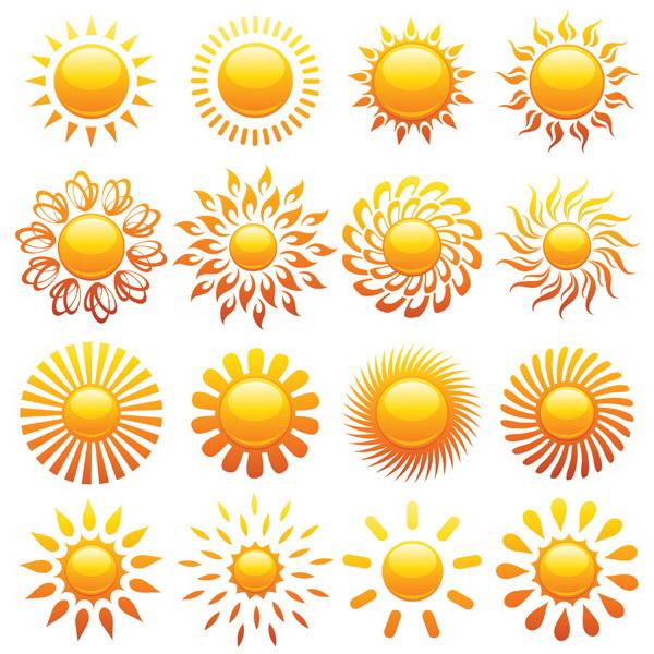 华军软件园 图形图像 矢量图库 水晶太阳图标矢量素材  相关下载 软件